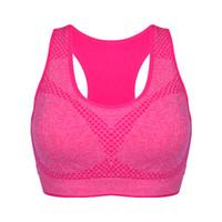 drahtlose sexy bhs großhandel-Neue Casual Yoga BH Wireless Baumwolle Stoßfest Solid Candy Farbe Frauen Abnehmen Bh Für Lauf Fitness