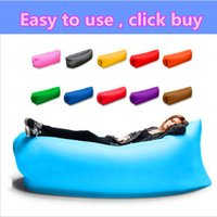 Wholesale air gas - lazy bag Home Air Furniture Gas Lazy Sofa Bed Sunshine Beach Park Sleeping Air sofa gonflable lounger waterproof