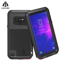 caja del teléfono nota de aluminio al por mayor-Para Samsung Galaxy Note 9 8 S9 S9 Plus Funda para teléfono LOVE MEI Metal Aluminio Funda de armadura a prueba de choques a prueba de suciedad potente para galaxy Note9 S8 +