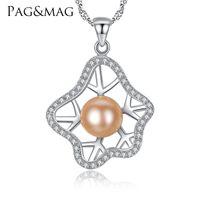 0e41dba68611 Al por mayor pentagrama plata 925 online - PAGMAG Marca Romántico 925  Collar de Plata Esterlina