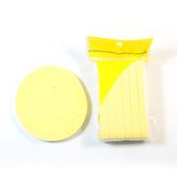 морские водоросли оптовых-12pcs/set Natural Wood Fiber Face Wash Cleaning Puff Cosmetic  Puff Seaweed Make Up Sponge for face  Tool