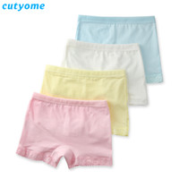 Wholesale hot girls lace underwear - Cutyome 2-15 Yrs Baby Girls Solid Underwear 100% Cotton Lace Safety Boutique Underpanties * Children 2017 Hot Kids Briefs Shorts