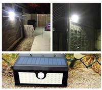 luz solar solar luzes venda por atacado-Super brilhante Painel de LED de Segurança de Inundação Solar Jardim Luz PIR Sensor de Movimento 45 LEDs Caminho Lâmpadas de Parede Ao Ar Livre de Emergência luz de inundação lâmpada