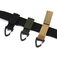 Wholesale Carabiner Nylon Tactical Backpack Key Hook Webbing Buckle Hanging System Molle Waist Belt Buckle Outdoor Tools
