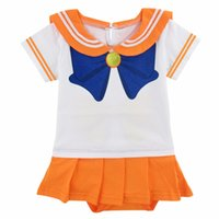 b9f45fa79360 Baby Girl Sailor Costume Bodysuit Infant Party Playsuit Sailor Moon Crystal  Dress Cosplay 0-24 Months