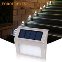 Wholesale X2 Solar Power LEDs Outdoor waterproof Garden Pathway Stairs Lamp Light Energy Saving LED Solar wall Lamp Warm White Cold white
