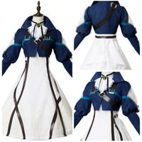 ingrosso bambole di memoria-Violet Evergarden Cosplay abito automatico bambola costume Cosplay vestito da abito da notte