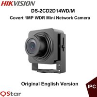 Wholesale Ip English - Hikvision Original English Mini IP Camera DS-2CD2D14WD M ATM Camera Support Upgrade 1MP CMOS WDR HD720P CCTV