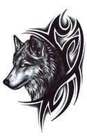 Wholesale tattoo king resale online - NEW ARRIVAL WOLF KING WOLF HAND TATTOOS Fast print on the body Easy to clean