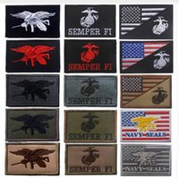 Wholesale patch military - Embroidered Patch Navy Seals Tactical Fastener Hook & Loop Patch U. S. NAVY Emblem Military Morale Patches Embroidery Badge