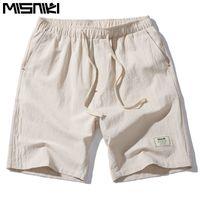 ingrosso pantaloncini di lino uomo-MISNIKI 2017 Hot Fashion Uomo Pantaloni corti Summer Linen Men Shorts (Asian Size) Pantaloncini da uomo per il tempo libero