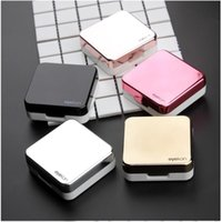 High Quality Reflective Cover Contact Lens Case With Mirror Color Contact Lenses Case Container Cute Lovely Travel Kit Box