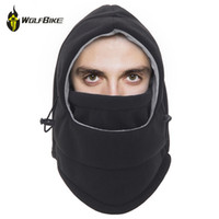 esporte aquecedor lenço lenço venda por atacado-Wosawe térmica velo máscara da motocicleta bicicleta esportes capacete no ar ao ar livre pescoço respirável ouvido à prova de vento máscara quente bicicleta cachecóis
