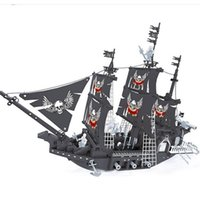 Wholesale model construction toys - Classic Pirate Series Building Blocks The Black Pearl 3D Model Construction Brick Creative Educational Toys For Kid Children 76 1hy YY