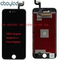 orijinal iphone kopyası toptan satış-(100% Orijinal) Çin Değil Kopya Orijinal LCD + Orijinal Arka Işık + Orijinal IC LCD Ekran Dokunmatik Ekran Digitizer iphone 6 S 6 S Artı