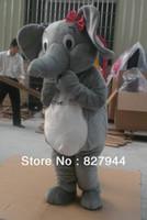 elefante mascote venda por atacado-Terno novo profissional dos desenhos animados do traje da mascote do elefante