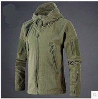 Wholesale hiking apparel resale online - New Outdoor Apparel Tactical Outdoor Soft Shell Fleece Jacket Men Army Polartec Sportswear Thermal Hunt Hiking Sport Hoodie Jackets