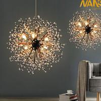 Wholesale vintage acrylic lamps - NANS vintage lights retro loft spark fireworks Acrylic LED Pendant Light Dining  Living Room Kitchen Light Hanging Lamps