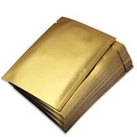 Wholesale mask packaging online - Small Matt Gold Open Top Aluminizing Bag Facial Mask Powder Herbal Packaging Bag Heat Sealing Foil Pouch