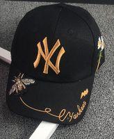 cap boy ny toptan satış-2018 Çocuk NY Harfler Beyzbol Şapkası Snapbacks Hip Hop Kap Moda Düz Şapka Çocuk Boys Ve Kızlar için Casquette arı kap snapback