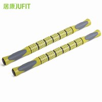 Wholesale Exercise Sticks - JUFIT Yoga Exercise Roller Eliminate Fat Lose Weight Muscle Roller Stick Leg Body Back Muscle Trigger Point Massager Stick