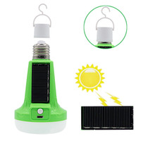 Wholesale led bulbs for street lights - Edison2011 12W 18W 85-265V Solar Powered LED Flashlight Tent Light Bulb Rechargeable Emergency Lamp for Outdoor Indoor Multifunctional