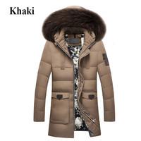 büyük kürk ceket ceketi toptan satış-2018 Yeni Kış Aşağı Ceket Rakun Kürk Hood erkek Yüksek Kaliteli Giyim Casual Ceketler Kalınlaşma Parkas Erkek Büyük Ceket 918