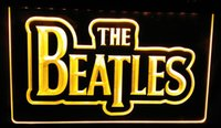 Wholesale neon sign bands - LS082-y The Beatles Band Music Logo Bar Neon Light Sign Decor Free Shipping Dropshipping Wholesale 8 colors to choose