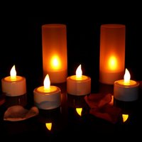 Wholesale flameless rechargeable candles for sale - 12pcs Rechargeable Flameless LED Candle TeaLight Night Light for Romantic Birthday Wedding Party Dinner Holidays Decor