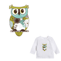 búho lindo t shirts al por mayor-Cute Owl Clothes Patches Parche Lavable A-level para Ropa Parches Applique para Camiseta Easy Transfer By Household Iron-on