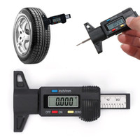 Wholesale electronics for cars online - Digital depth gauge caliper tread depth gauge for Electronic LCD Tyre Wheel tread gauge Brake Gage Measuring Tools Car Accessory