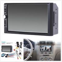 araba sesi toptan satış-7 Inç TFT Araba Ses Stereo Dokunmatik Ekran 2 Din MP5 Çalar Dikiz Kamera ile Bluetooth V2.0 Hands-Free Çağrı AUX TF USB