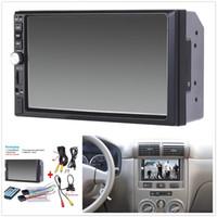 manos de camara al por mayor-7 pulgadas TFT Car Audio Pantalla táctil estéreo 2 Din MP5 Player con cámara de vista trasera Bluetooth V2.0 Manos libres Llamada AUX TF USB