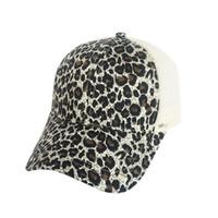 Gorra de béisbol de leopardo con cola de caballo Sombrero de béisbol de las mujeres  Snapback Verano Casual Chicas Hip Hop Sombreros deportivos dc33fcd640d