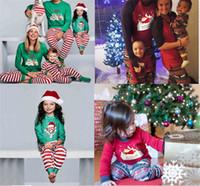 21a2a083a7 2018 Xmas Moose Sleepwear Fairy Christmas Deer Elk Family Pajamas Set Adult  Kids Striped parent-child Nightwear Party Clothing Homewear sale