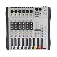 Wholesale Dj Audio Mixers - Freeboss MX-600 6ch Mono 6 channels good quality hot sell USB professional audio dj mixer