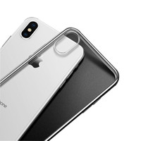 Wholesale iphone 5s transparent color cases - Transparent TPU Phone Case For iPhone X 8 7 plus 6 6s 5 5s Full Cover 1mm Thick Cases Clear Color Soft Shell