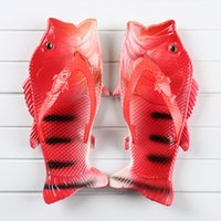Wholesale Heeled Shoes For Kids - Hot Summer Flip Flops With Fish Shape Sandals for Women Kids Beach Sandals Fish Slippers Water Shoes Female Fashion Swimming Water