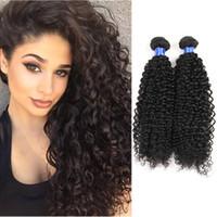 kinky kıvırcık insan saçları satılık toptan satış-Toptan Sınıf 8A Vizon Virgin İnsan Saç 4 Demetleri Örgüleri Kinky Kıvırcık Brezilyalı Bakire İnsan Saç Uzantıları Üst Satış Işlenmemiş Ürün