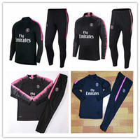 Wholesale field full - PSG adult soccer match 2018 neymar track and field suit 18 19 MBA shoes, Lucas JR home football jacket Training Kit