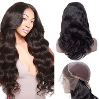 Wholesale black hair weave hairstyles online - Brazilian Body Wave Lace Front Wig Unprocessed Peruvian Human Hair Lace Front Wigs Indian Malaysian Human Hair Weave