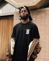 vêtements hip hop europe achat en gros de-18ss Europe De Luxe Londres Hip Hop T B Tee Haute Qualité Planche À Roulettes Cool T-shirt Hommes Femmes Vêtements Coton Casual T-shirt