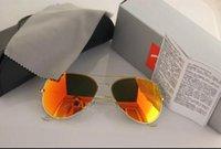 Wholesale aviator sunglasses for women - Brand Designer Polarized Sunglasses Classic Aviator Sun glasses for Men Women Driving glasses UV400 Metal Frame Flash Mirror polaroid Lenses