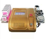 vakum makineleri toptan satış-40KHZ kavitasyon ultrasonik liposuction lipolaser RF radyo frekansı vücut inceltme makinesi vaccum bipolor spa salon vücut şekillendirme makinesi