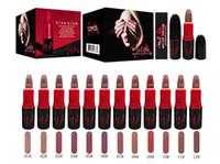Wholesale good lipstick brands resale online - New Brand VIVA GLAM makeup SIA matte lipstick color good quality Black box DHL shipping
