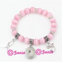 о компании оптовых-1PC New Breast Cancer Awareness Jewelry Pink Opal Bead Breast Cancer Ribbon Angel Charm Bead Bracelets for Women snap jewelry