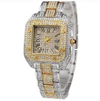 Wholesale Noble Classic - Women Luxury Watch noble Christmas gift Full diamond Business Jewelry buckle Square dial Classic banquet Ladies Leisure Busines watch