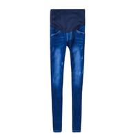 ec40890b5 Brand Maternity Jeans Embarazo Ropa de mezclilla Elástico Elástico Elástico Pantalones  Flacos Pantalones Ropa Para Mujeres Embarazadas Caliente