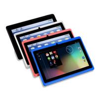 ingrosso 7 inch tablet-Tablet da 7 pollici Android TFT Display HD 1080P 1024x600 Quad Core Tablet Bluetooth Wifi 512 MB + 8 GB Giochi Doppia fotocamera