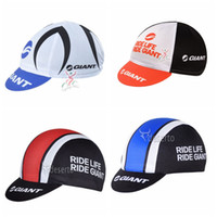 Wholesale giant pro cycling for sale - Group buy Pro team GIANT Cycling Caps New bicycle Sport Cycling Caps for Men Women Wear bike hat Breathable quick dry E60401